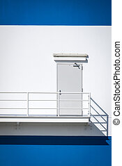 Fire escape stairs and Door