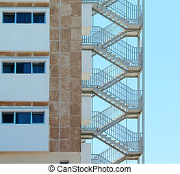 Fire Escape Stairs at a Hotel
