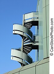 Fire escape stairs in Germany