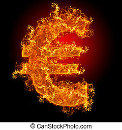 Fire euro sign