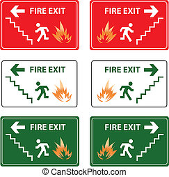 fire exit emergency sign
