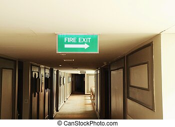 Fire exit to signs