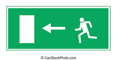 Fire exit. Vector illustration