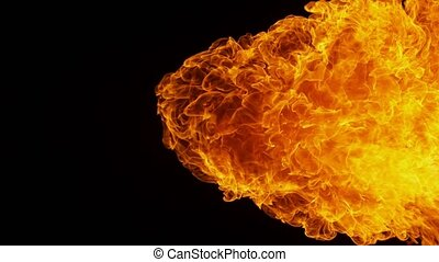 Fire explosion shooting with high speed camera at 1000fps,