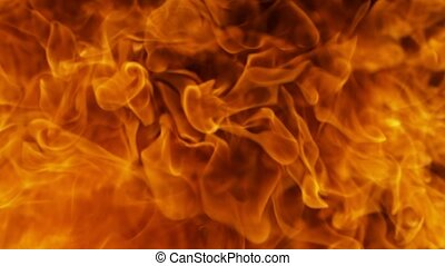 Fire explosion shooting with high speed camera at 1000fps, ...