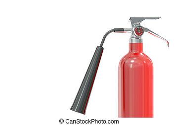 fire extinguisher, 3D rendering