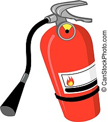 Fire Extinguisher - An Illustration of a red fire ...