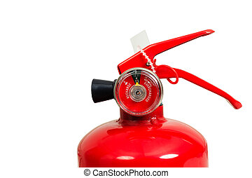 fire extinguisher and head gauge isolate on white background