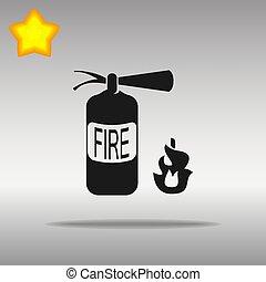 fire extinguisher black Icon button logo symbol