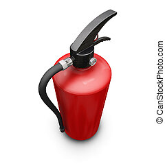 Fire extinguisher - 3D render of a fire extinguisher