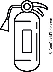 Fire extinguisher flame icon, outline style - Fire ...