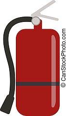 Fire extinguisher flat illustration on white