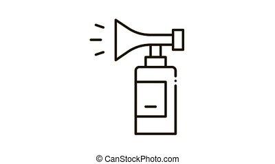 Fire Extinguisher Icon Animation. black Fire Extinguisher animated icon on white background