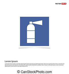 Fire extinguisher icon  - Blue photo Frame