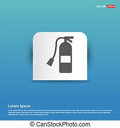 Fire extinguisher Icon - Blue Sticker button