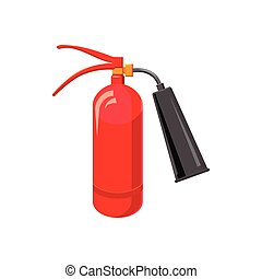 Fire extinguisher icon, cartoon style