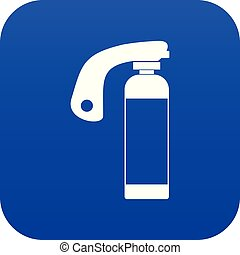Fire extinguisher icon digital blue