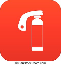 Fire extinguisher icon digital red