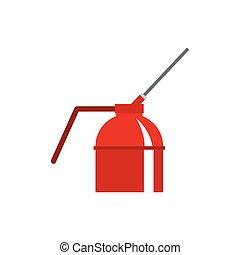 Fire extinguisher icon, flat style