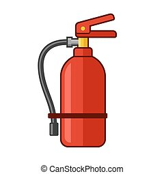 Fire Extinguisher Icon. Flat Style. Vector