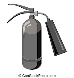 Fire extinguisher icon, gray monochrome style
