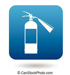 Fire extinguisher icon in simple style