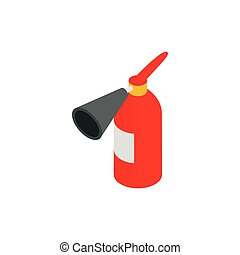 Fire extinguisher icon, isometric 3d style