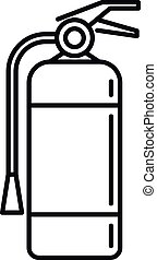 Fire extinguisher icon, outline style - Fire extinguisher ...