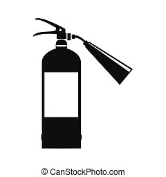 Fire extinguisher icon, simple style