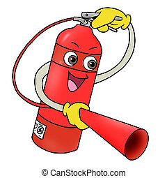 fire extinguisher icon - Cartoon illustration of fire...