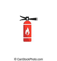 fire extinguisher icon vector flat design