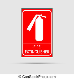 Fire extinguisher icon. Vector illustration