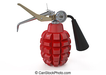 fire extinguisher in the form of grenades