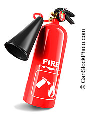 Fire extinguisher isolated on white background 3d