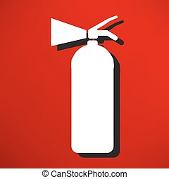 Fire extinguisher isolated on a blue background