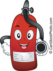 Fire Extinguisher Mascot - Mascot Illustration Featuring a...