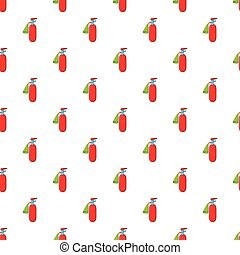 Fire extinguisher pattern, cartoon style