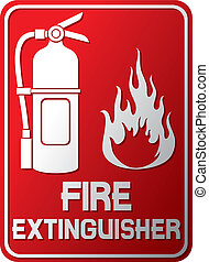 fire extinguisher sign (fire extinguisher symbol, label)