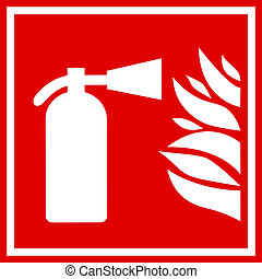 Fire extinguisher sign - Fire extinguisher vector sign