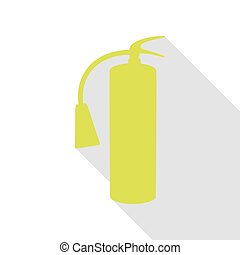 Fire extinguisher sign. Pear icon with flat style shadow path.