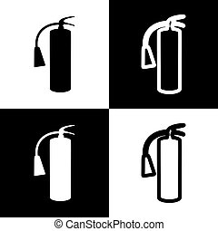 Fire extinguisher sign. Vector..