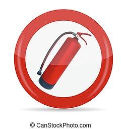 Fire Extinguisher Sign Vector Illustration