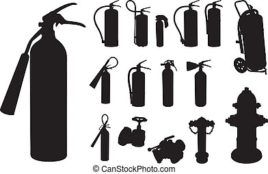Fire extinguisher silhouette - 12 Fire extinguisher,...