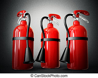 fire extinguisher isolated on a white background