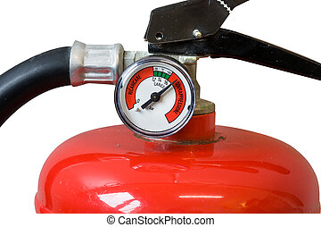 fire extinguisher - head of fire extinguisher fully charged...