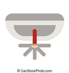 Fire extinguisher system flat illustration