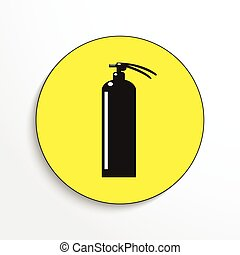 Fire extinguisher. Vector icon.