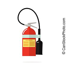 Fire extinguisher vector icon isolated on white background