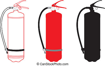 Fire Extinguisher - vector illustration of fire extinguisher
