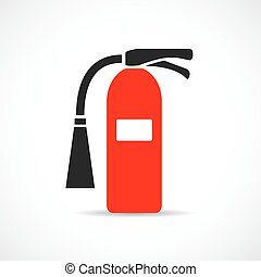 Fire extinguisher vector logo